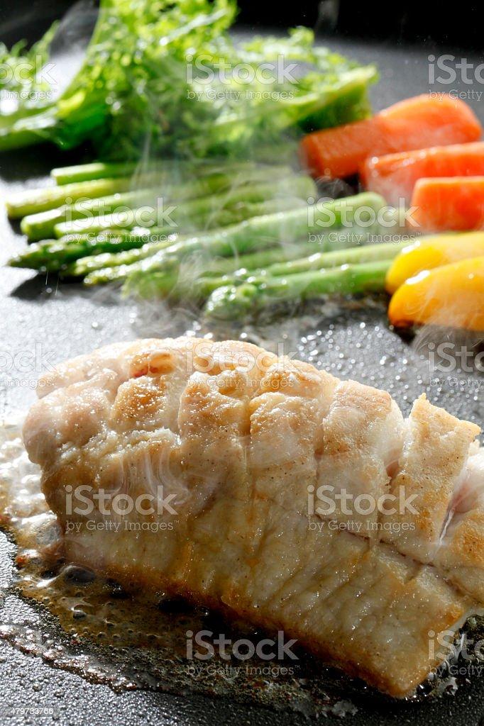 Meuniere of fish stock photo