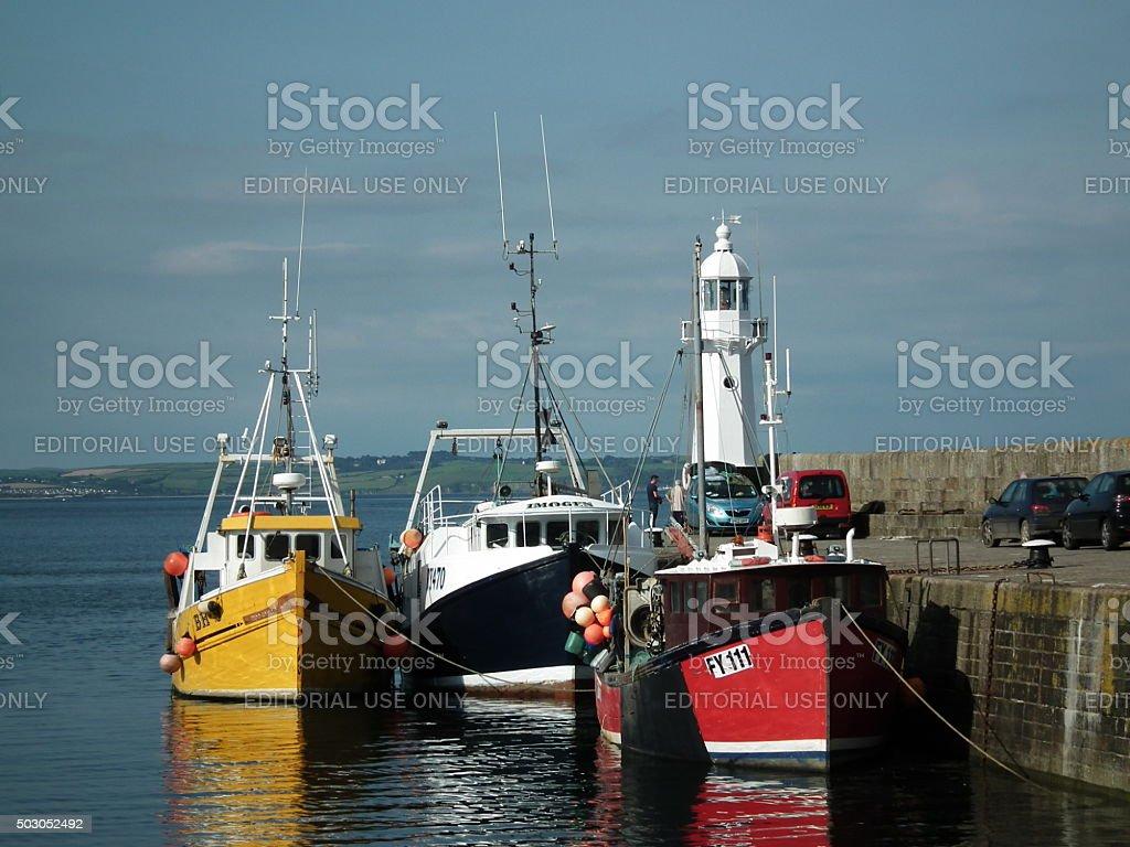 Mevagissey harbour stock photo