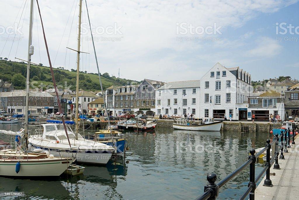 Mevagissey Inner Harbour royalty-free stock photo