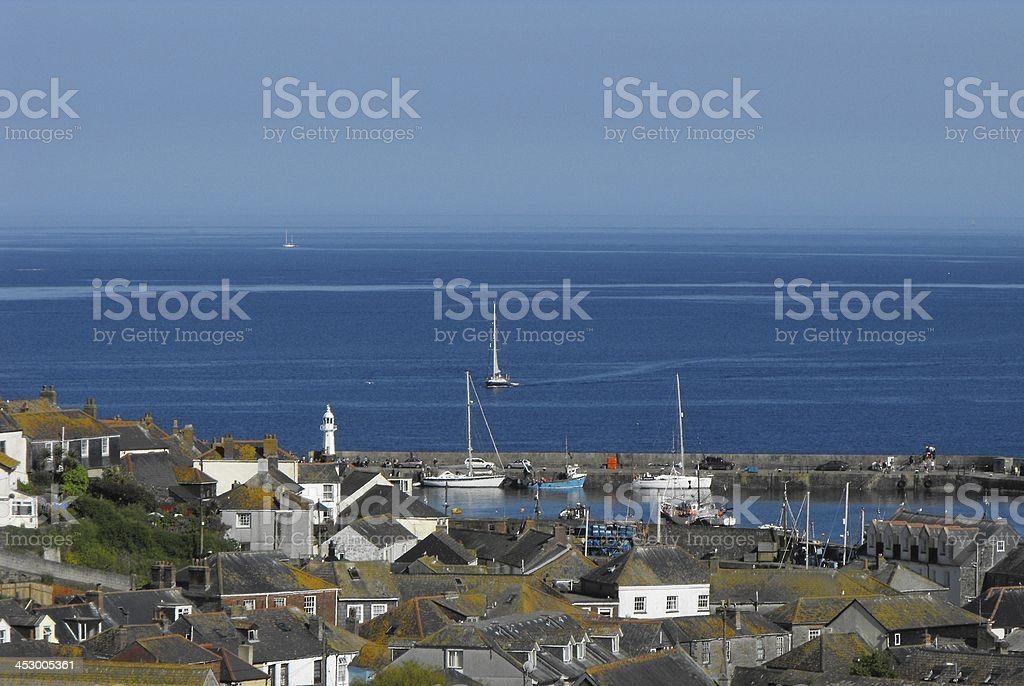 Mevagissey Landscape royalty-free stock photo