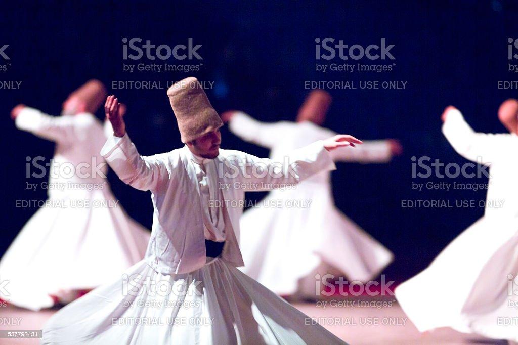 mevlana ceremony stock photo