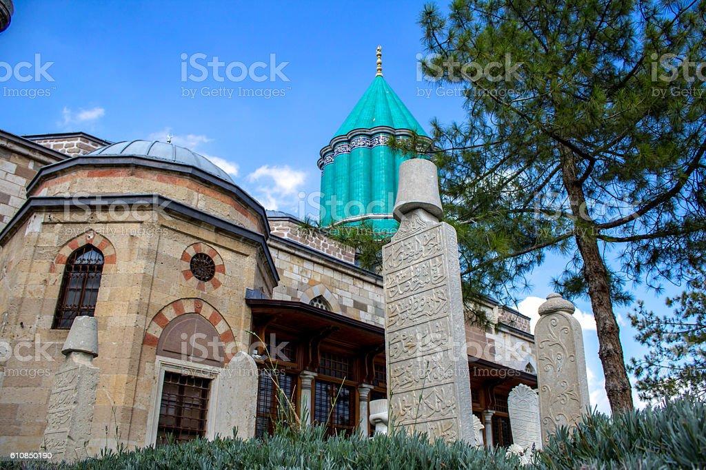 mevlana garden stock photo