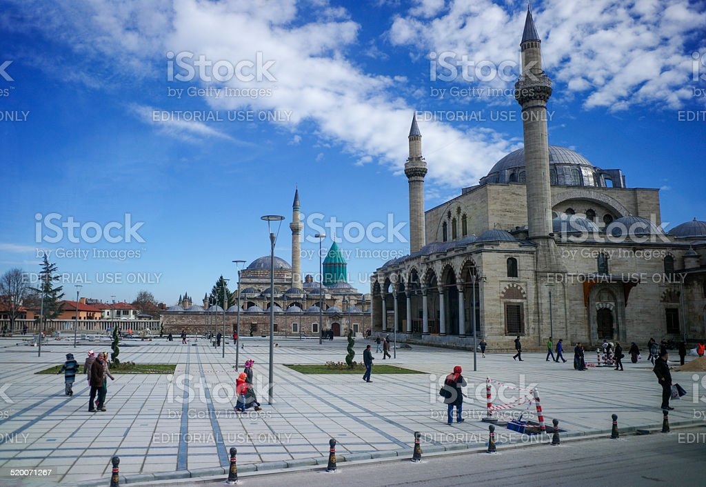 mevlana mosque and museum at konya turkey stock photo