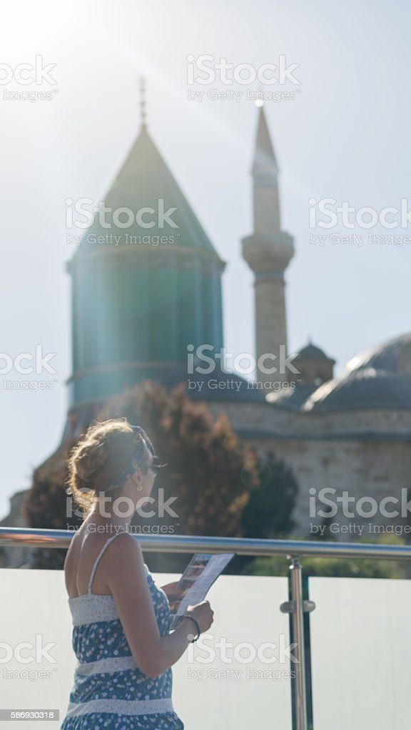 Mevlana mosque and museum stock photo