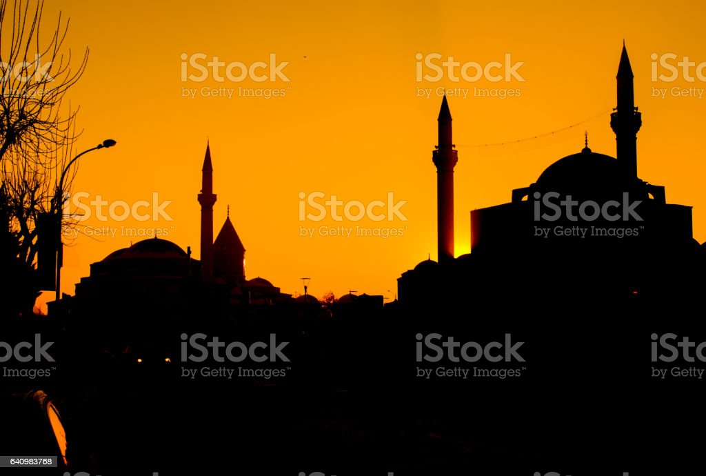 mevlana museum, konya stock photo