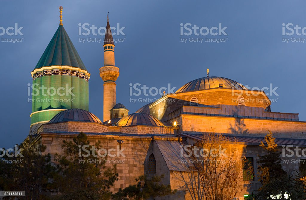 mevlana rumi mosque and museum at konya turkey stock photo