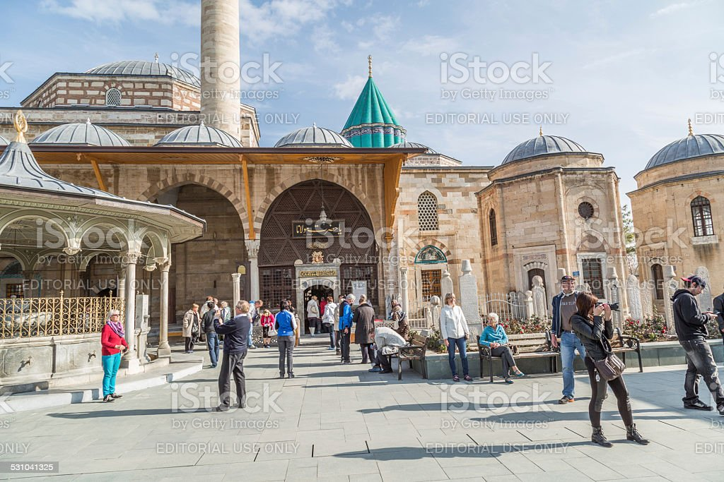 Mevlana sarqufague stock photo