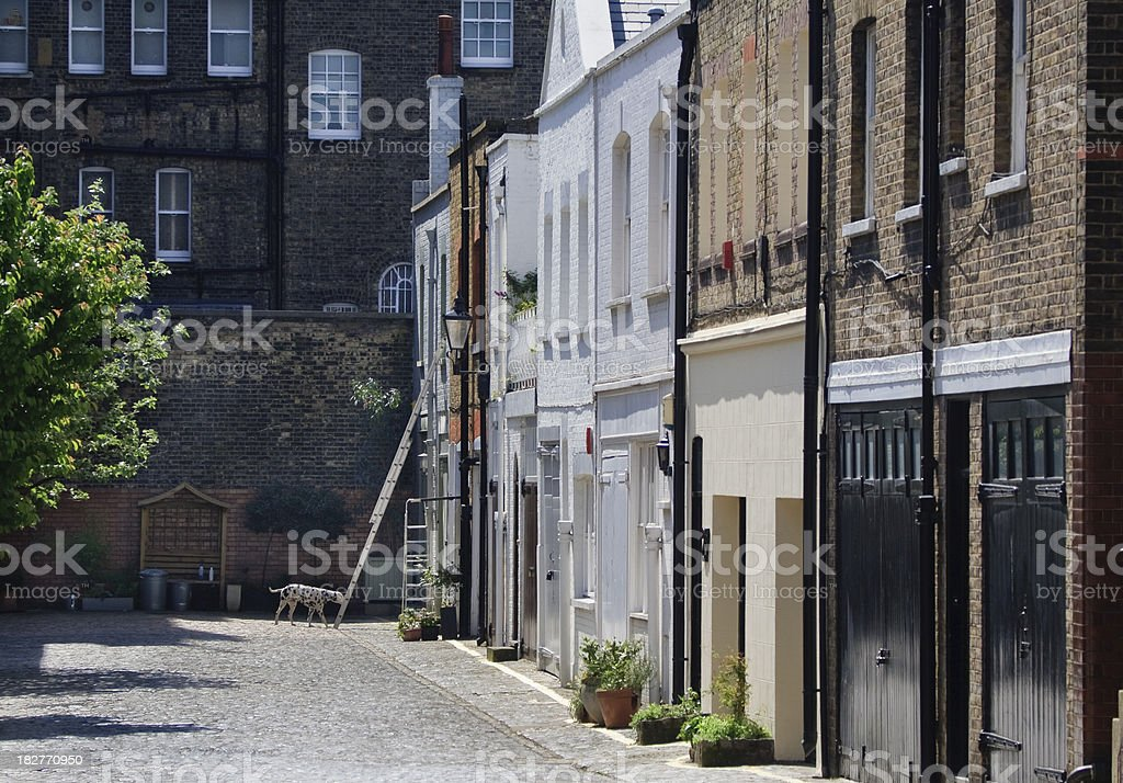 Mews houses in London stock photo