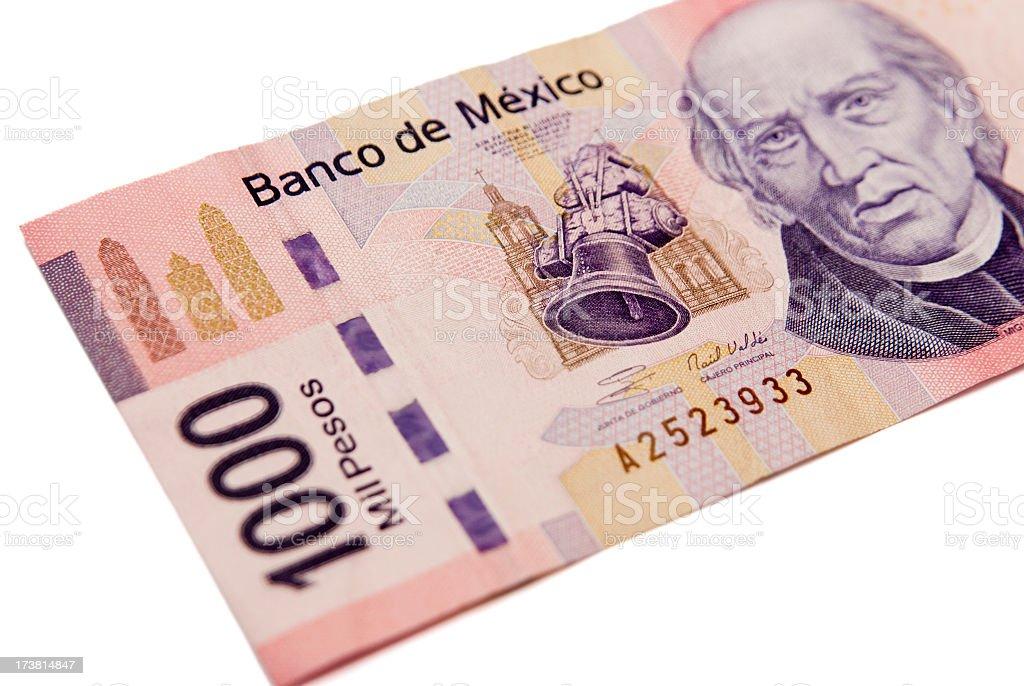 Mexican 1000 pesos stock photo