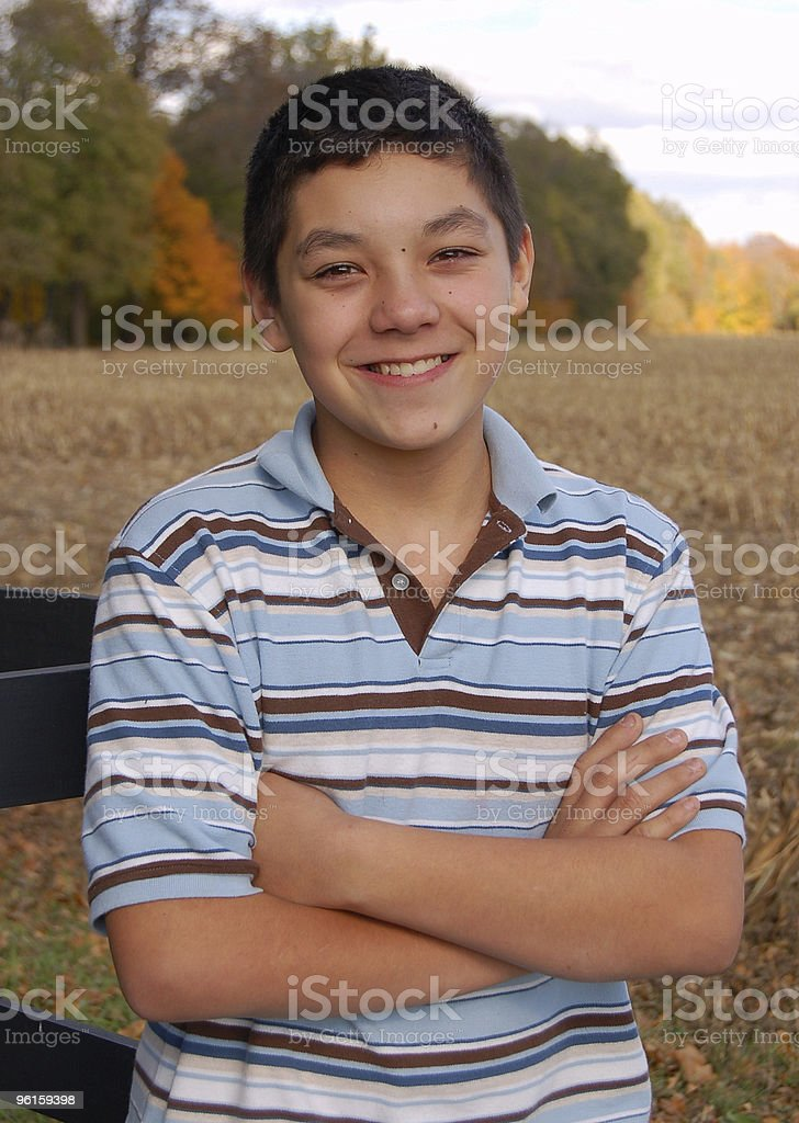 Mexican American Teen Boy royalty-free stock photo