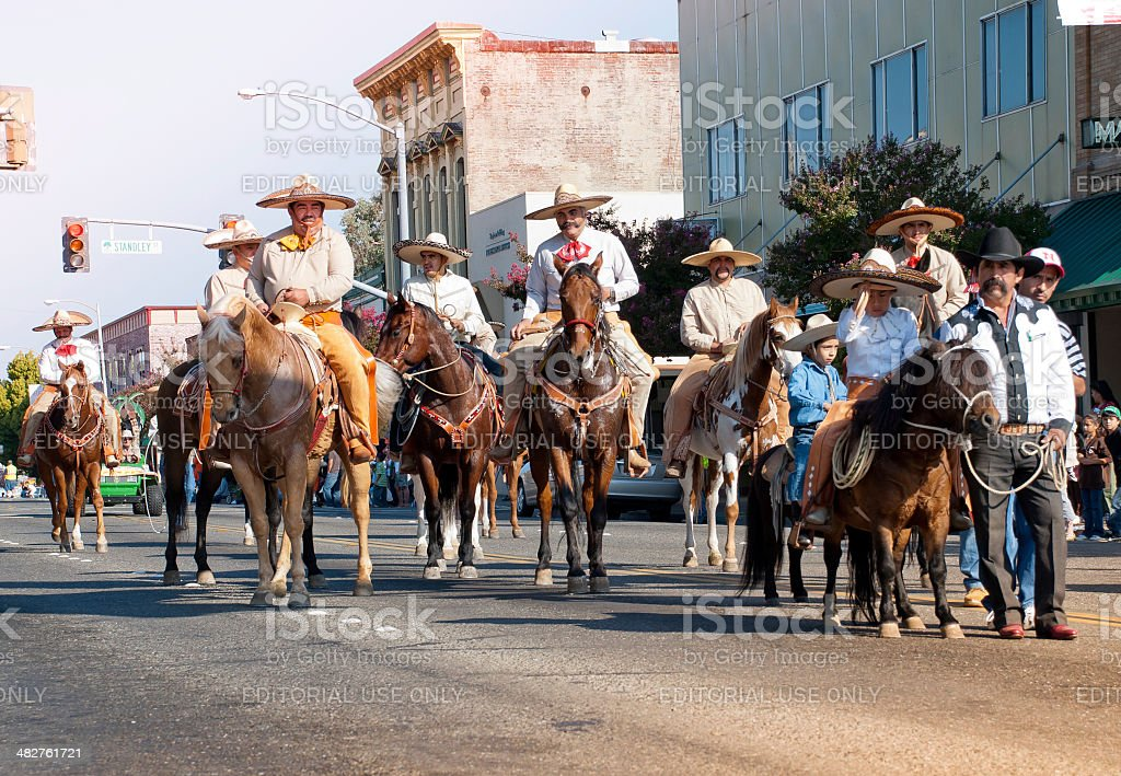 Mexican Americans On Parade in California royalty-free stock photo