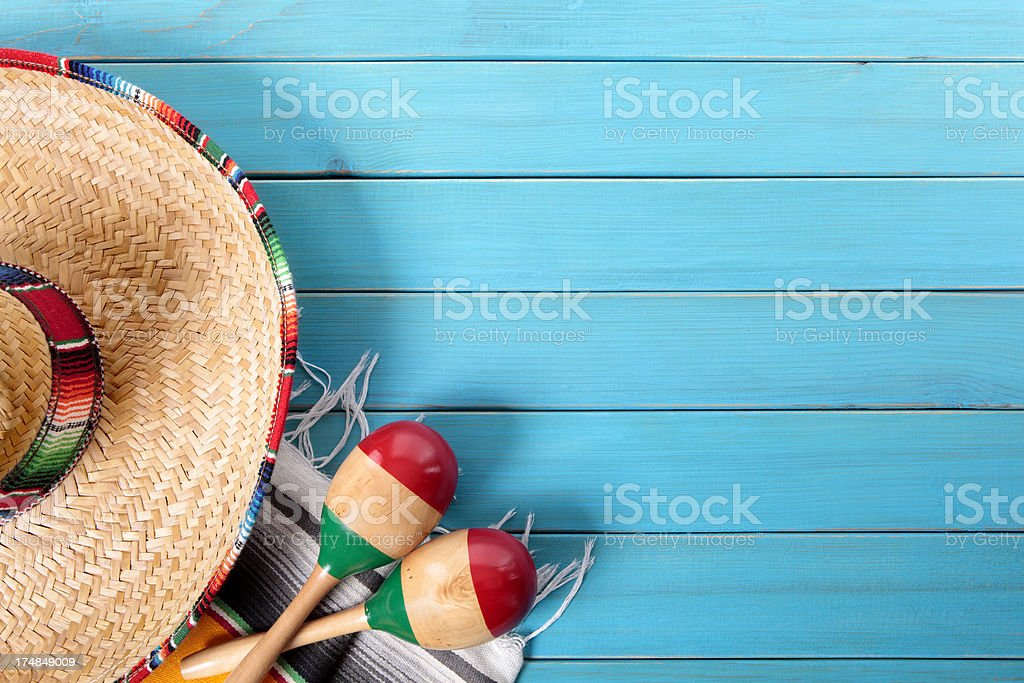 Mexican background with copyspace royalty-free stock photo