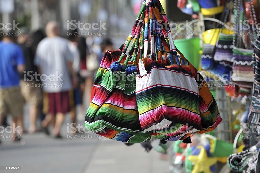 Mexican Bags at Venice Beach Boardwalk Shop California stock photo