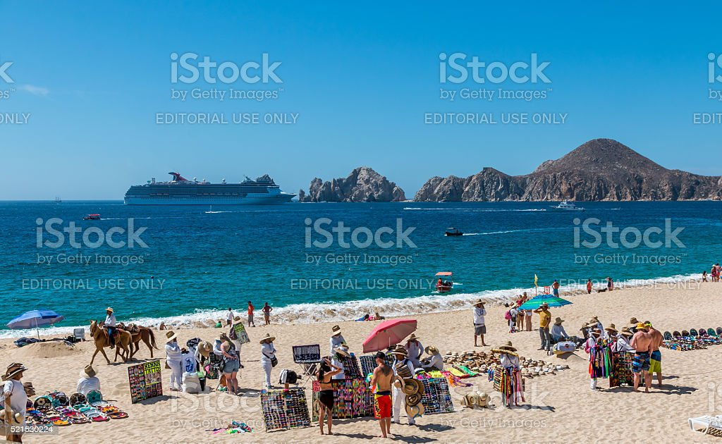mexican beach venders. stock photo