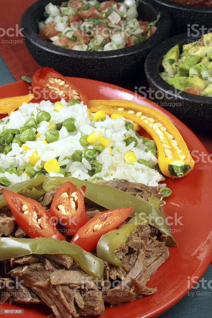 Mexican beef plate royalty-free stock photo