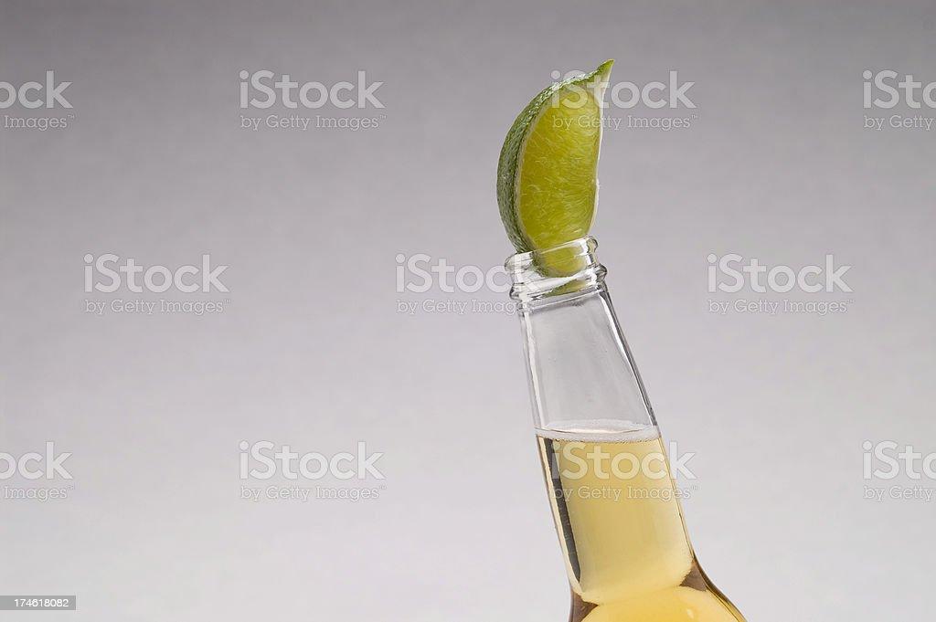 Mexican Beer Lime Horizontal Light Grad BG stock photo