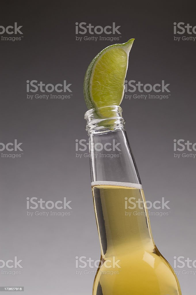 Mexican Beer & Lime Vertical stock photo