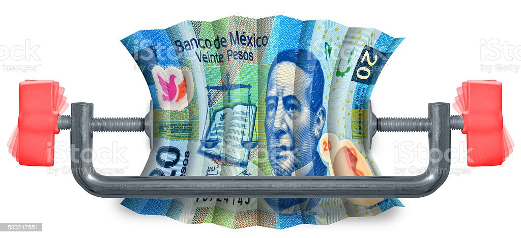Mexican Budget stock photo