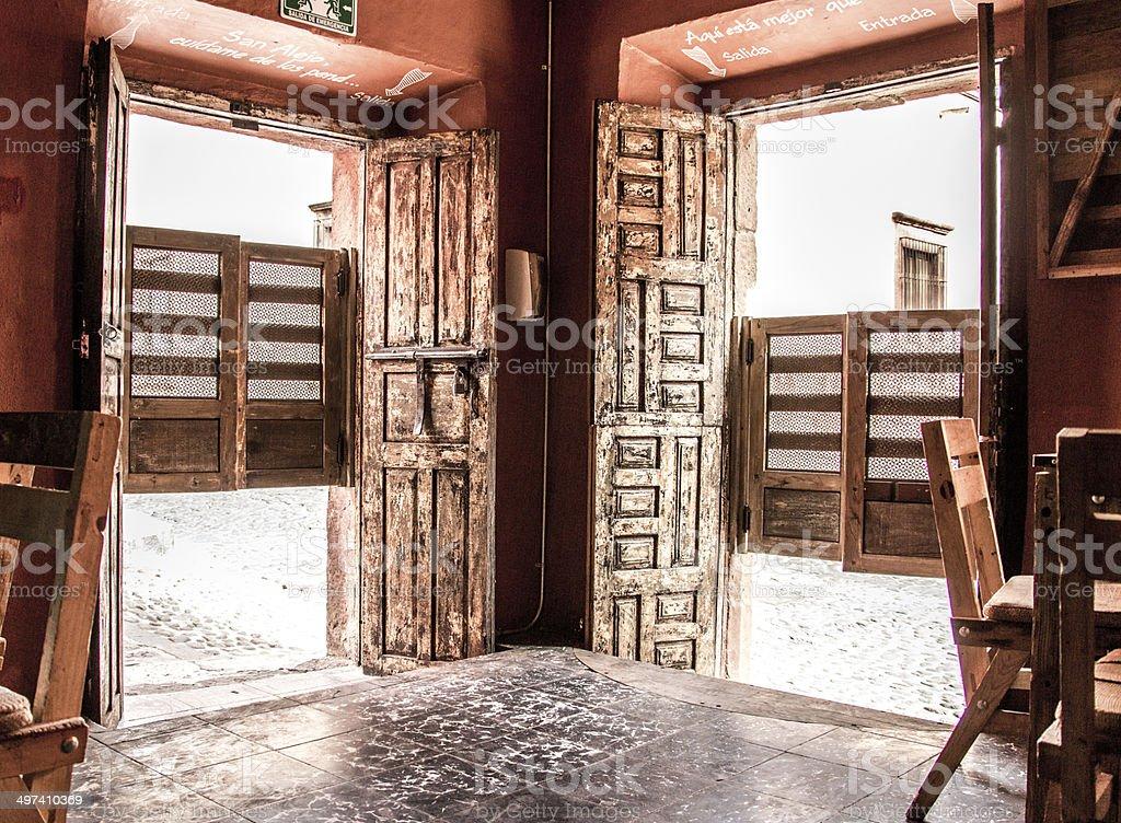 Mexican Cantina San Miguel de Allende Guanajuato Mexico stock photo