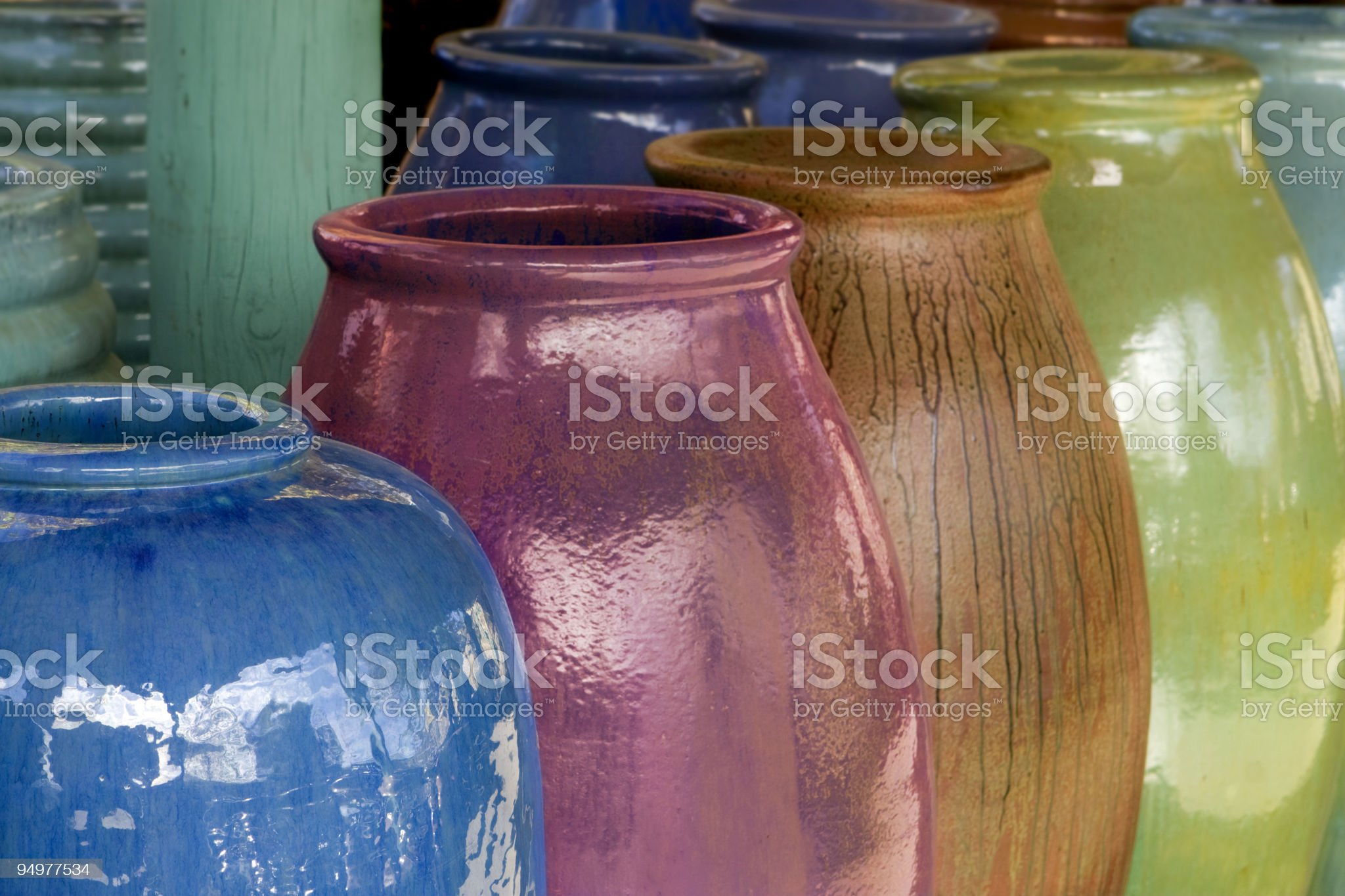 Mexican Ceramic Pots royalty-free stock photo