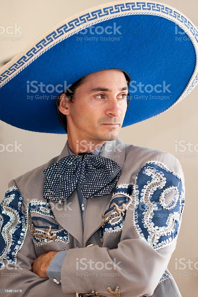 Mexican Charro portrait royalty-free stock photo