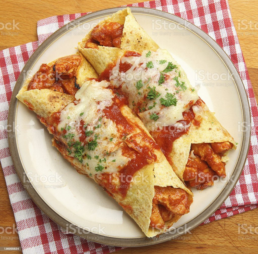 Mexican Chicken Enchiladas stock photo