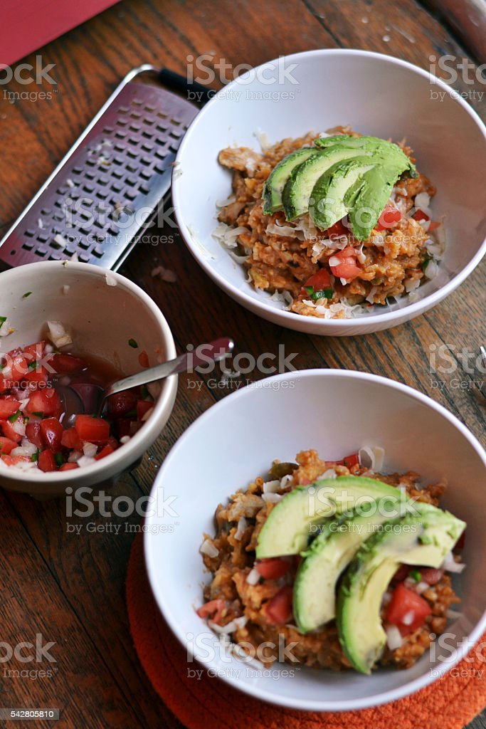 Mexican Chicken & Rice stock photo