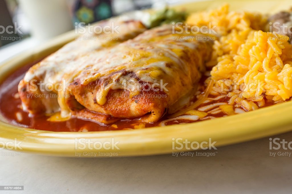 Mexican Chimichanga Burrito stock photo