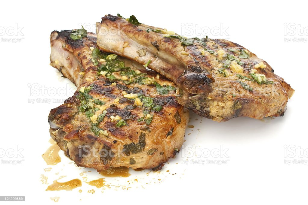 Mexican Citrus Pork Chops stock photo