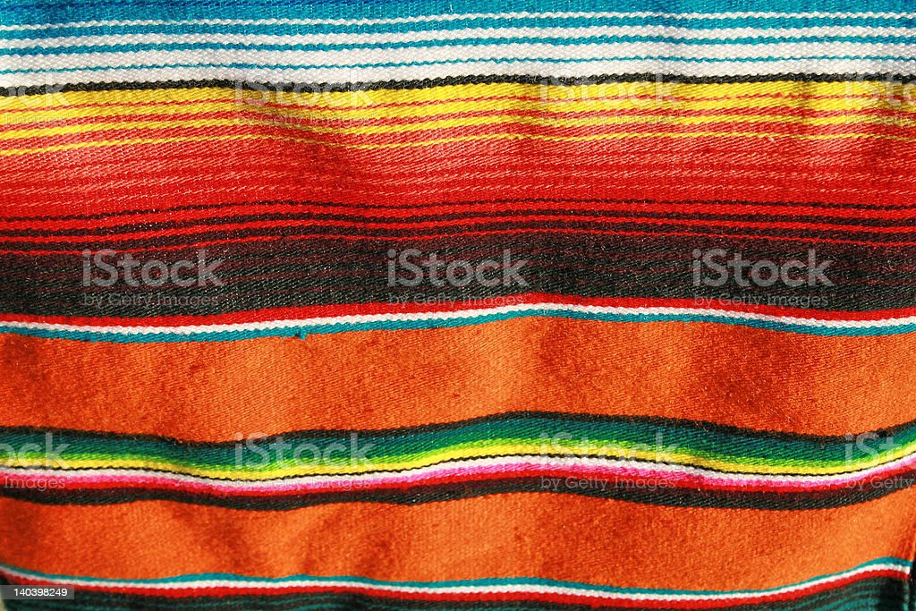 Mexican colorful blanket with pattern stock photo