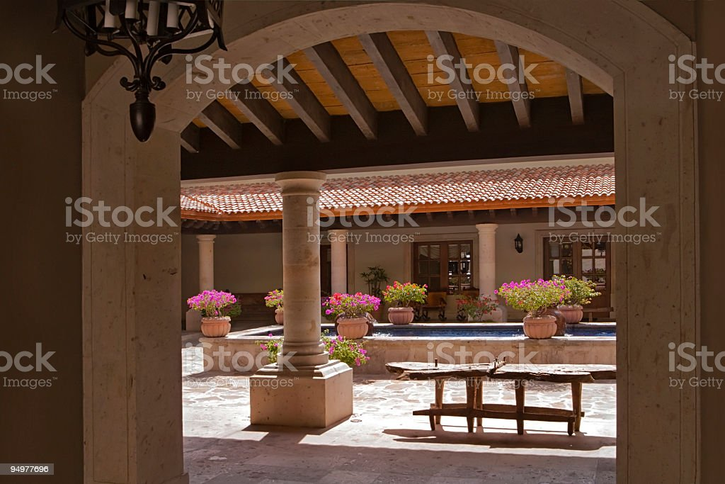 Mexican Courtyard royalty-free stock photo
