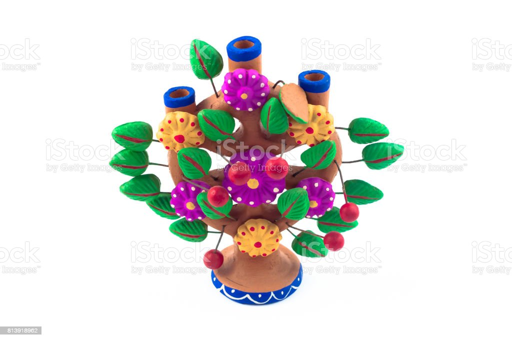 Mexican craft tree of life stock photo