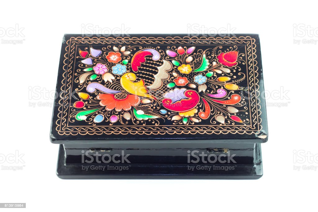 Mexican crafts jewelry box stock photo