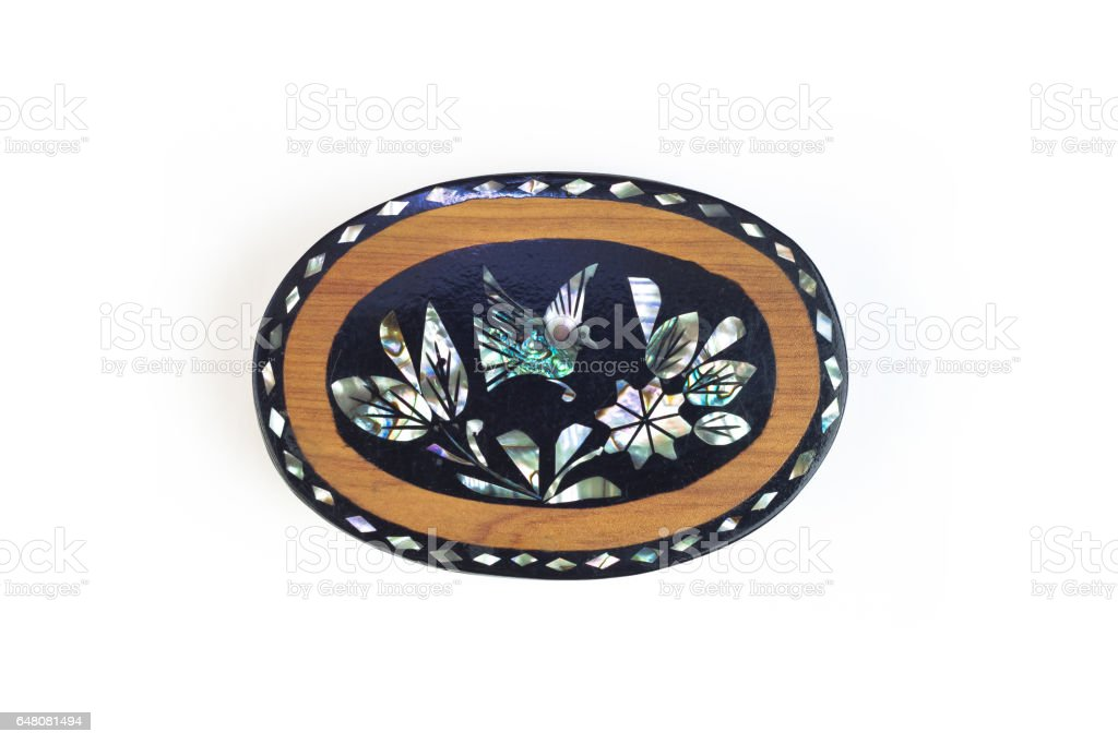 Mexican crafts small jewelry box stock photo
