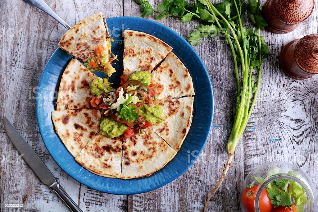 mexican cuisine quesadilla stock photo