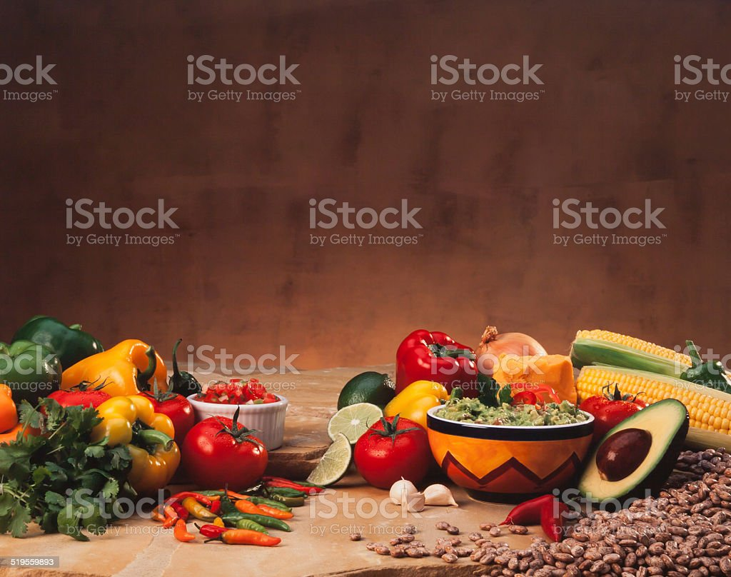 Mexican Cuisine Scene stock photo