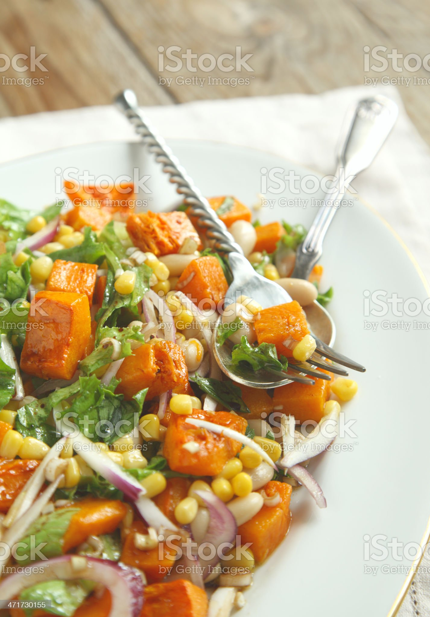 Mexican cuisine: Three Sisters Salad royalty-free stock photo