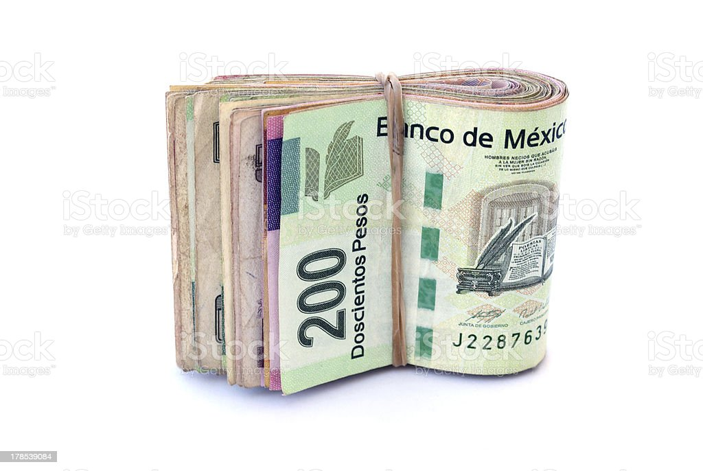 Mexican Currency stock photo