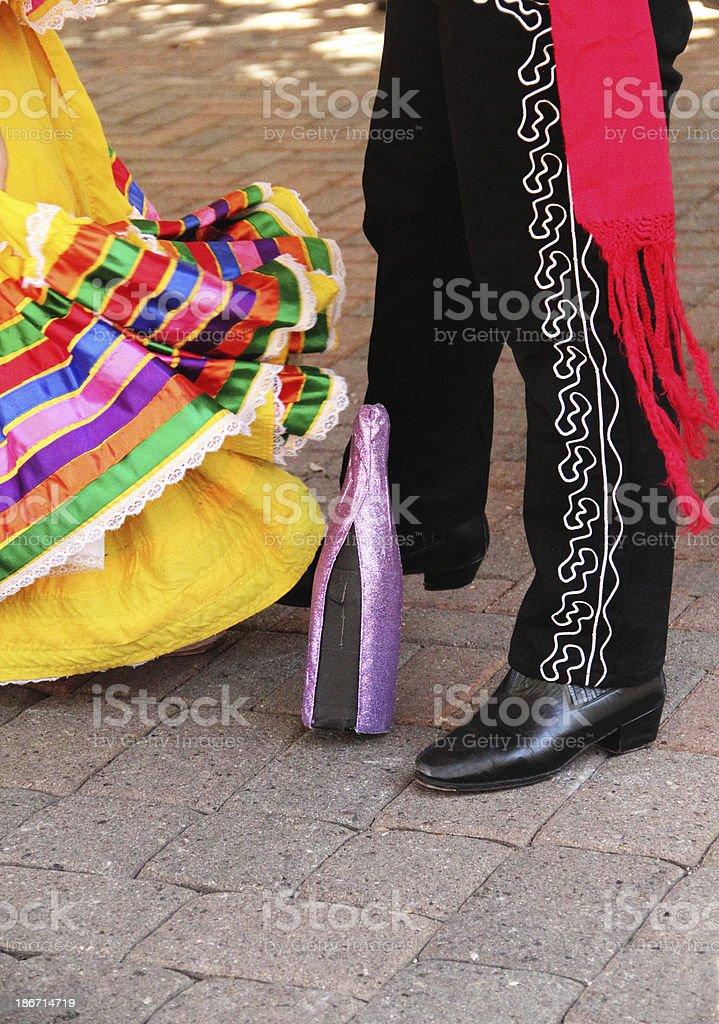 Mexican Dance Bottle Celebration royalty-free stock photo