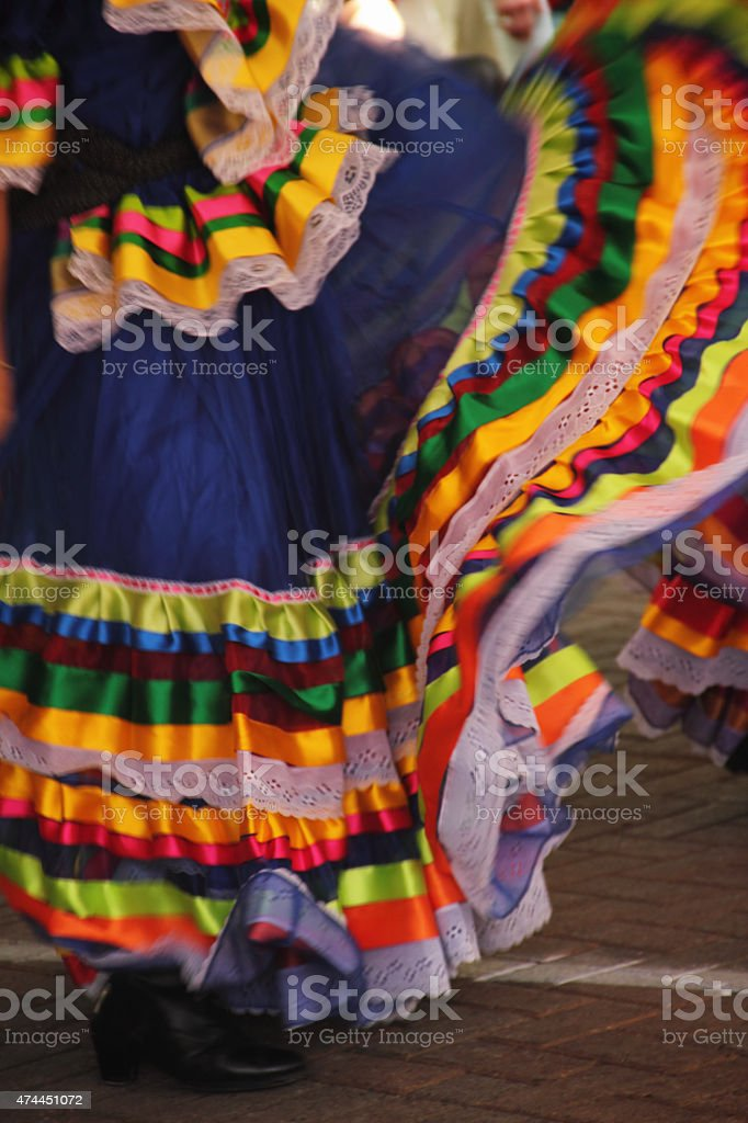Mexican Dancer Dress stock photo