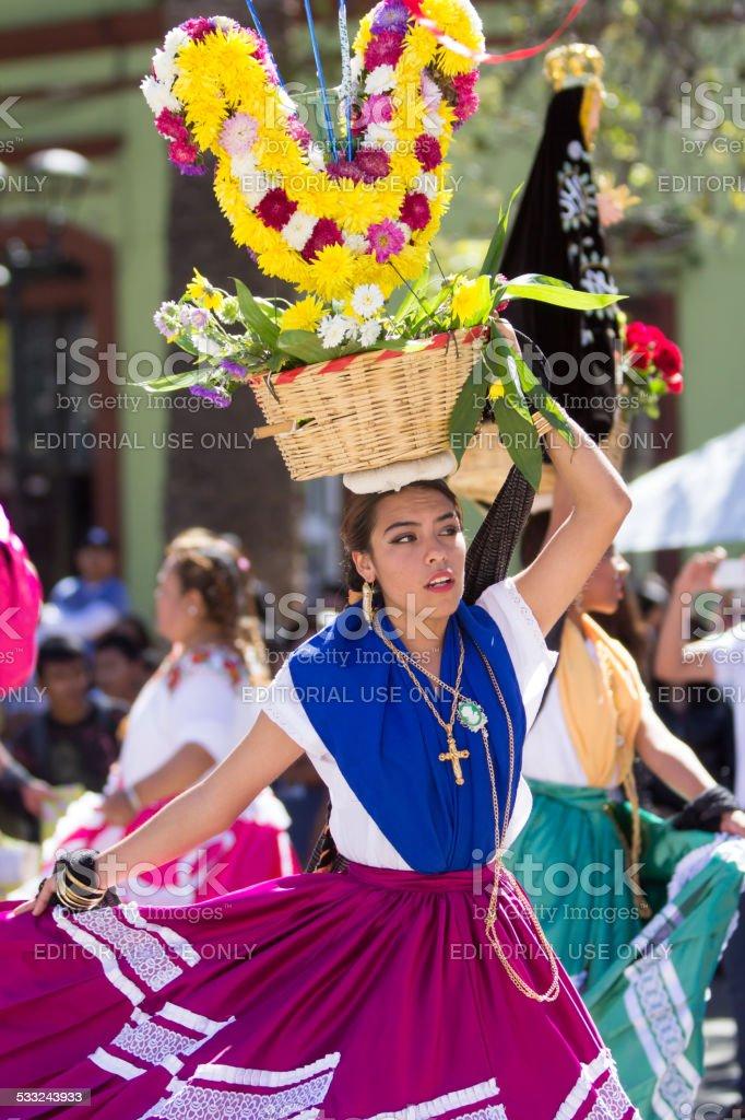 Mexican Dancers, Oaxaca stock photo