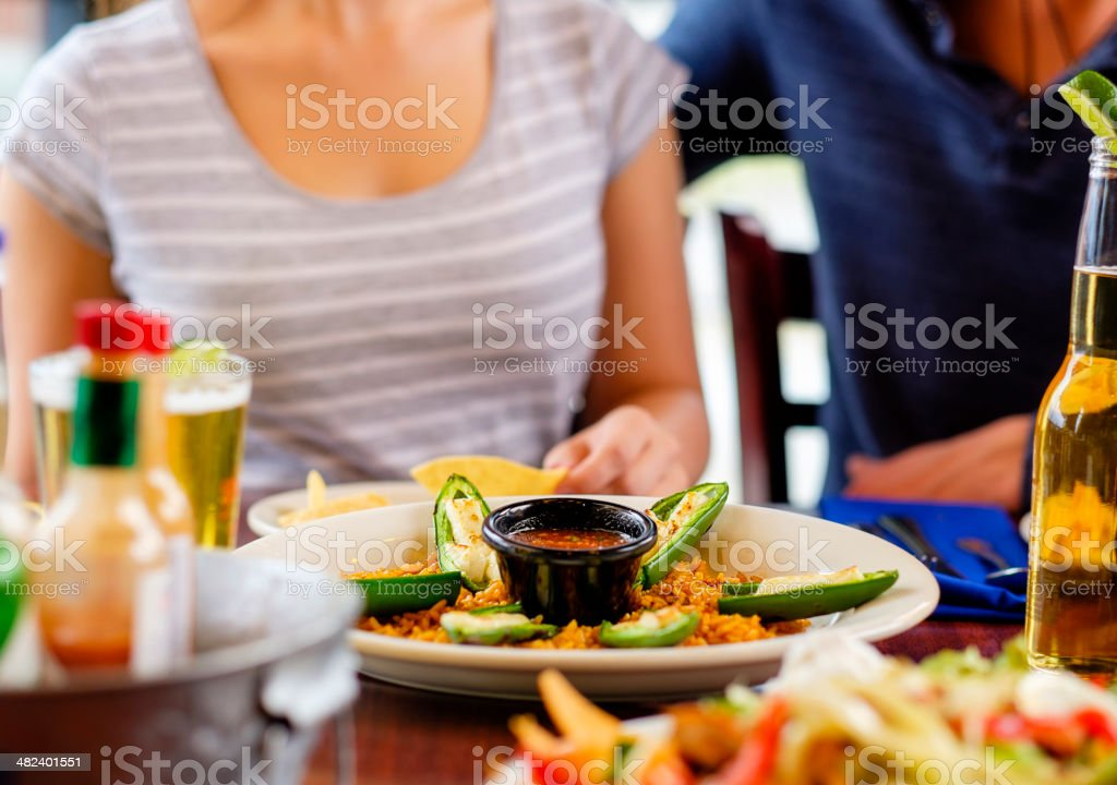 Mexican Dinner stock photo