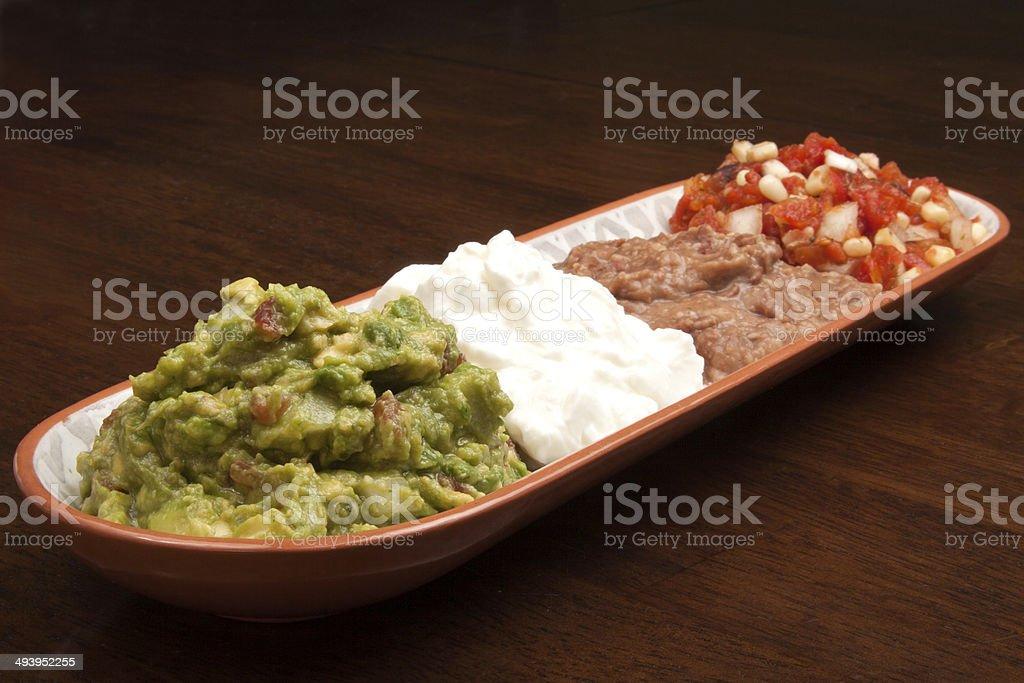 Mexican Dip Tray royalty-free stock photo