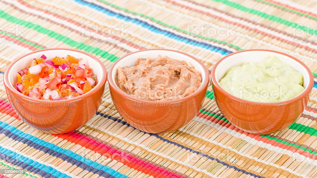 Mexican Dips & Side Dishes stock photo