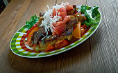 Mexican dish filet of beef
