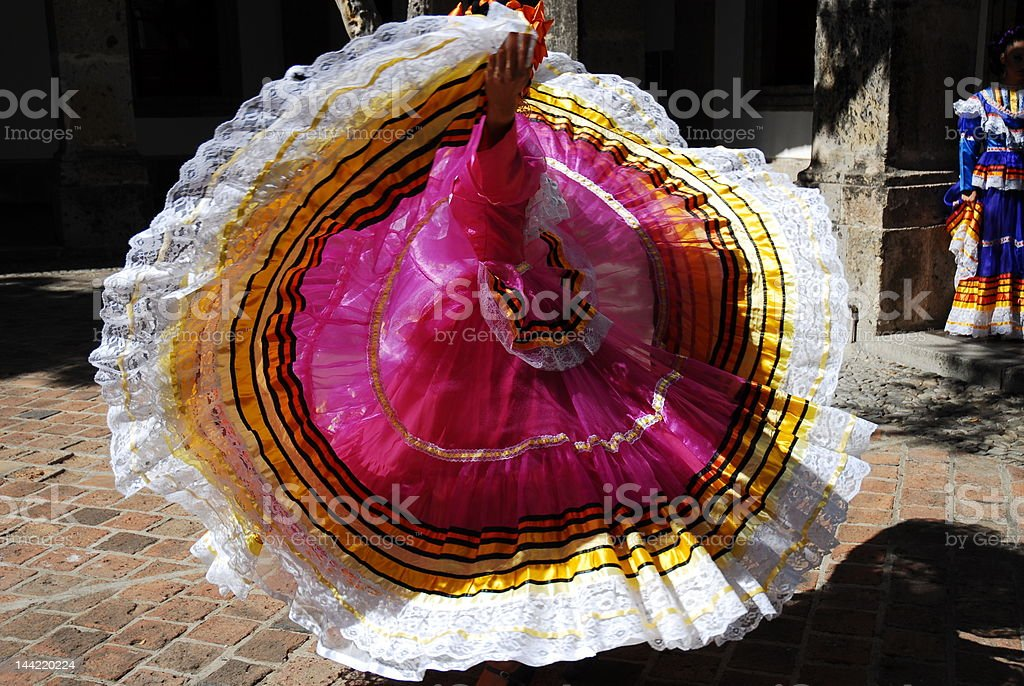Mexican dress royalty-free stock photo