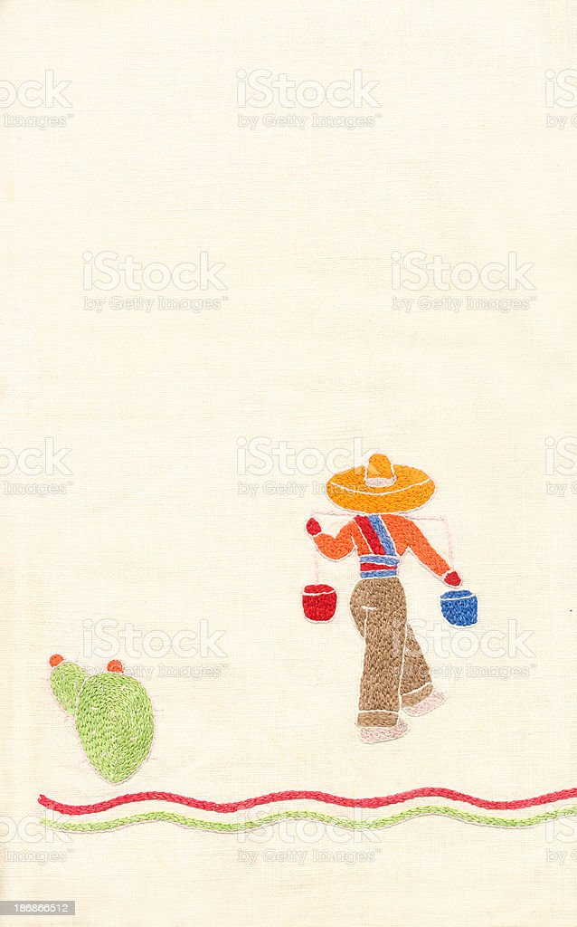 Mexican Embroidered Man royalty-free stock photo