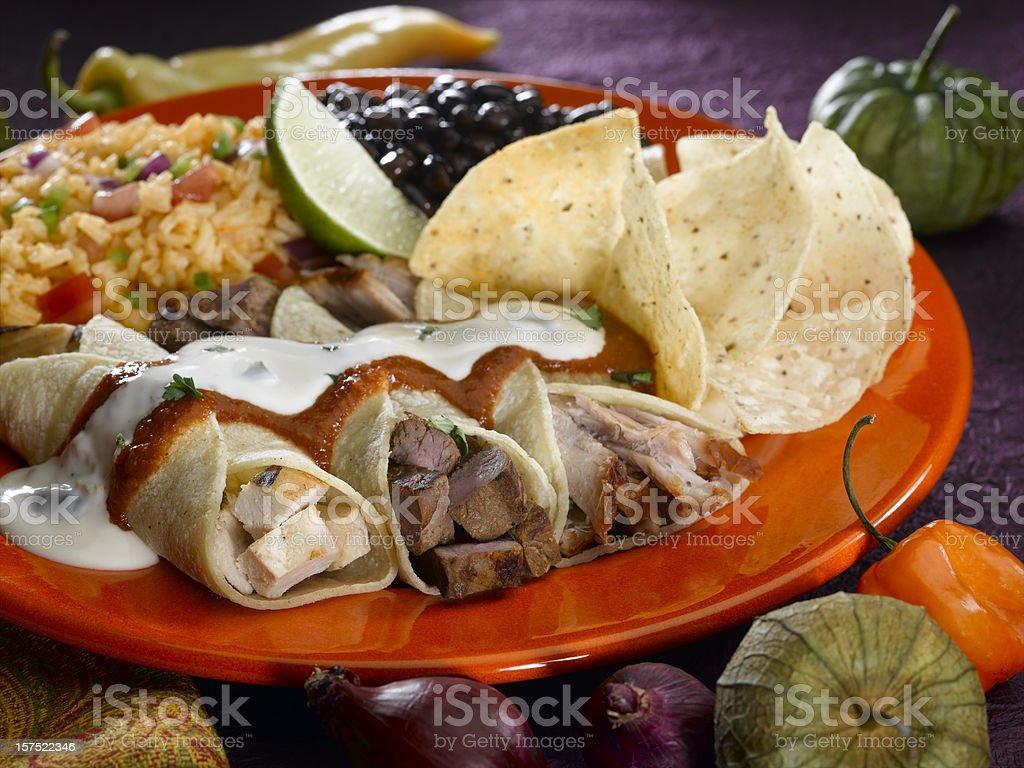 Mexican Enchilada royalty-free stock photo