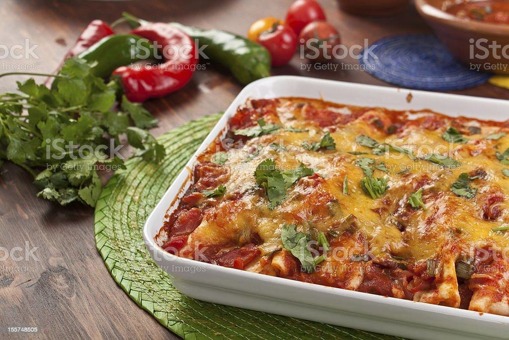 mexican  enchiladas royalty-free stock photo