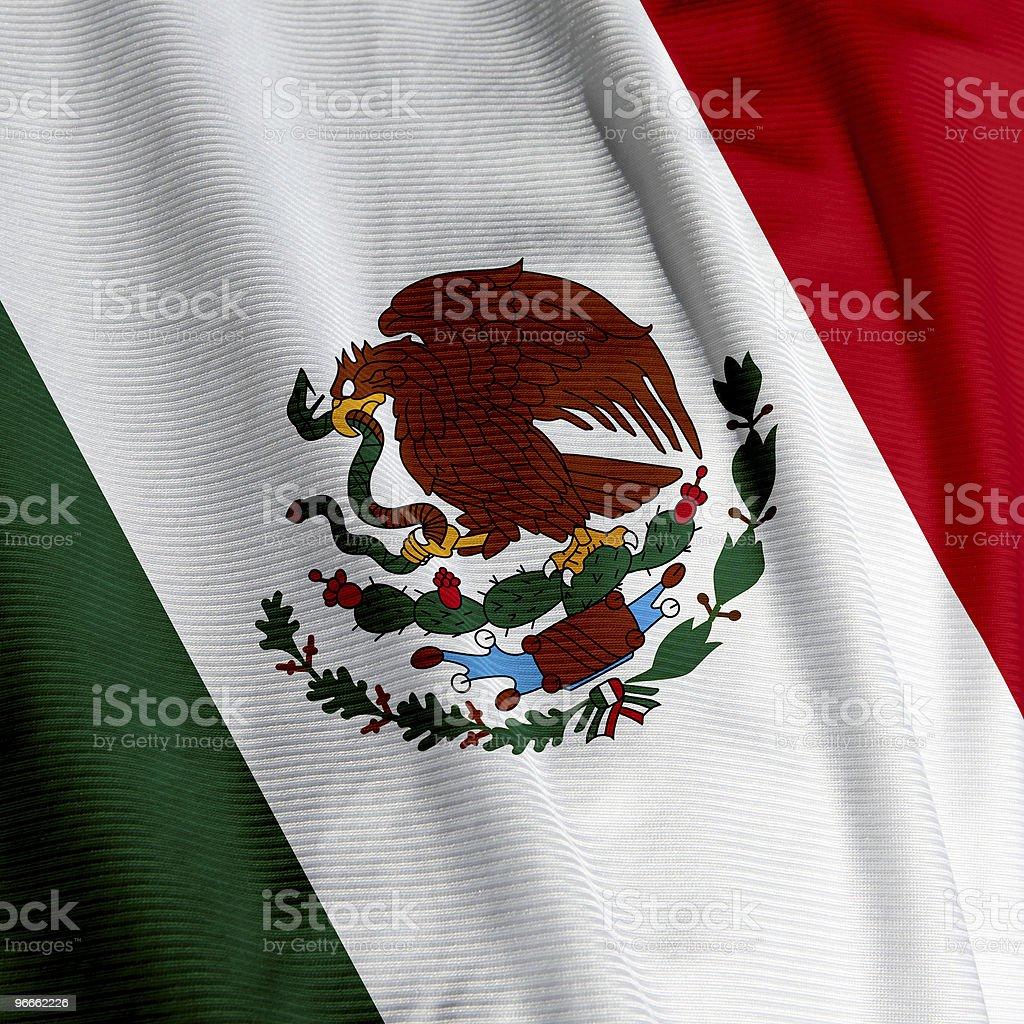 Mexican Flag Closeup royalty-free stock photo